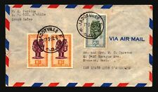 Belgian Congo 1950 Cover to USA / 10F Total - Z18156