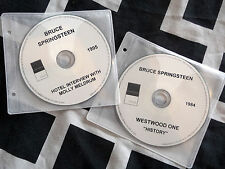 BRUCE SPRINGSTEEN - 2 RARE AUSTRALIAN INTERVIEW PROMO CD's - WESTWOOD ONE 1984