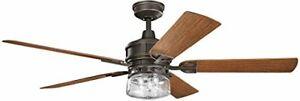 Kichler 310140OZ Lyndon Patio Outdoor  Ceiling Fan Light & Wall Control