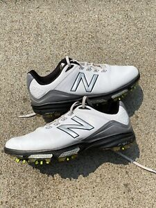 New Balance Mens 3001 Golf Shoes Size 9.5 2E White Black and Grey Golf Shoes
