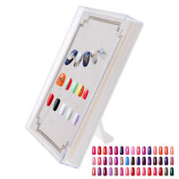 Nail Art Practice Display Stand Frame False Holder Tip Salon Plastic Manicure