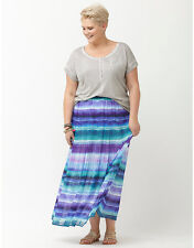 NEW LANE BRYANT PLUS SIZE CHIFFON MAXI SKIRT SZ 14/16