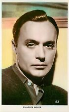 1930s Tinted Real Photo Postcard Charles Boyer French Hollywood Movie Actor