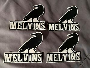 "Lot of 4 MELVINS 3 1/4"" x 4"" Band Logo Sticker FAST! FREE SHIP! Buzz Osborne"