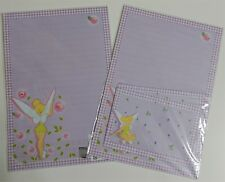 Disney Fairy Tinkerbell Stationery Envelop Stationary Lined Letter Set Leaf Rose