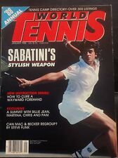 'World Tennis' US Tennis Magazine - January 1988 - Gabriela Sabatini.