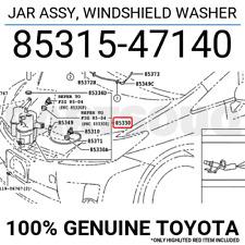 8531547140 Genuine Toyota JAR ASSY, WINDSHIELD WASHER 85315-47140