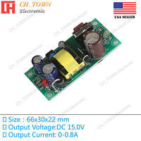 AC-DC 15V 0.8A 12W Power Supply Buck Converter Step Down Module High Quality USA