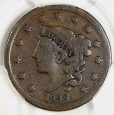 N14 R4 PCGS F12 1838 Large Cent