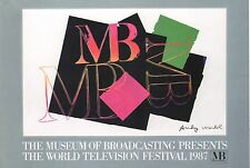 ANDY WARHOL POSTER ART ( PRINT)  MUSEUM  BROADCASTING TELEVISION FESTIVAL