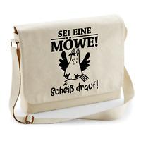 SEI EINE MÖWE Scheiß drauf Seagull Party Sprüche Fun Umhängetasche Messenger Bag