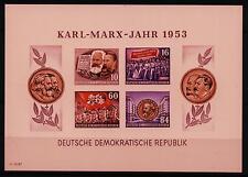 """DDR Neudruck MiNr 392B-395B Block 9B """"Karl-Marx-Jahr"""" Nationalökonom-Das Kapital"""