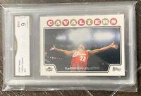 2008-09 Topps Lebron James Iconic Chalk Toss Card GMA 9 Mint🔥🔥🔥 Rare!!!