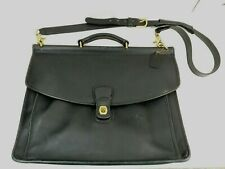 Coach Legacy Black Leather LG Briefcase Crossbody Messenger Laptop Shoulder Bag