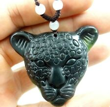53*55 MM100%Chinese natural jade hand-carved the statue of Lion's head PENDANT