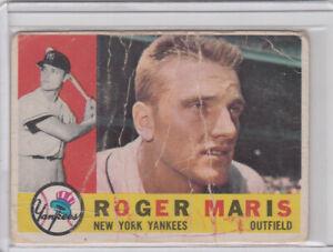 GS: 1960 Topps Baseball Card #377 Roger Maris New York Yankees - P-Fr