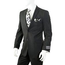"50L NEW ~black ~2 button ""Moda Christiano"" slim fit ~ side vent ~suit 44W x 34L"