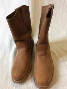 Field N Forest 11D Slip Oil Resistant Brown Work Western Leather Boots steel toe