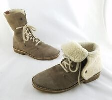 Vintage Marc O'Polo Taupe Brown Suede Sherpa Lined Boots Size 8 C1