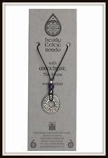 Amatista & Celta Rondo Perla Collar ~ de dragón negro ~ hecho en el Reino Unido