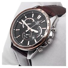 Imported Casio Edifice 510 Black And Copper Dial Watch For Men