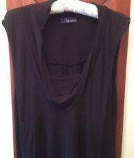 Ladies Black Dress,size 12,Drape Neckline,Stretch,Maxi,Like a Star,Spandex