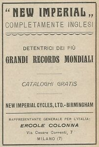 Z2104 Motorcycles New Imperial - Great Records - Advertising D'Epoca