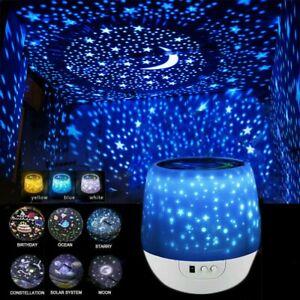 LED Projektor Sternenhimmel Lampe Starry Mond Stern Nachtlicht mit Fernbedienung
