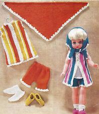 Ropa de muñecas Tejer patrón 18 in (approx. 45.72 cm) Vestido Bufanda Zapatos por correo electrónico (664)