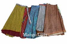 Wholesale Lot 100 Pcs Vintage Indian Silk Blend Sari Recycled Wrap Around Skirts