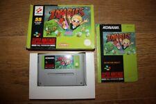 Jeu Zombies pour console Super Nintendo SNES en boite complet