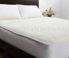 EW Premium Reversible 100% Aussie Wool King Bed Underlay Fitted Mattress Cover