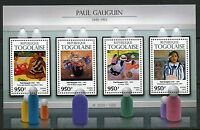 TOGO 2015  PAUL GAUGUIN PAINTINGS SHEET   MINT NH