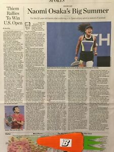 NAOMI OSAKA A STIRRING US OPEN VICTORY THE WALL STREET JOURNAL ARTICLE WSJ ,