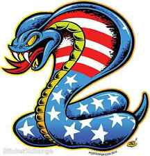 American Cobra Reptile Sticker Decal by Artist Dirty Donny DD47 Left