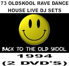 73 Oldskool Rave, Dance, House live DJ sets from 1994 (2 DVD's)