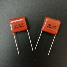 50pcs 450V 105 J 1uf 1000nf 1000000pf P15 CL21 CBB metal film capacitor