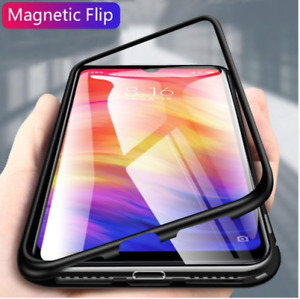 Cover Case Flip Magnetic Xiaomi Redmi 9 Rear Glass Tempered