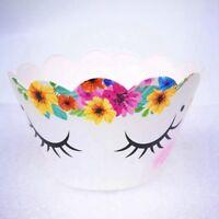 24pcs/set Rainbow Unicorn Cupcake Decor Cake Topper Wrappers Kids Child Cake DIY