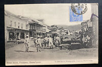 1909 Freetown Sierra Leone RPPC POSTCARD Cover To PATTERSON NJ USA Howe Street