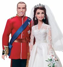 Barbie Collector Royalty Prince William and Kate Doll Gift Set
