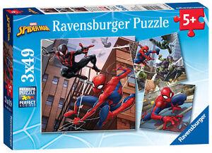 08025 Ravensburger Spider-Man Jigsaw 3 x 49pc Puzzles Children Age 5 years+