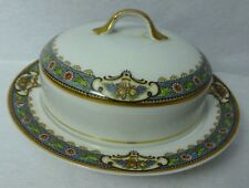 CROWN IMPERIAL china CLAYTON pattern 2-piece Round Butter Serving Dish & Lid