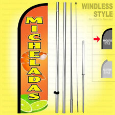 Micheladas Windless Swooper Flag Kit 15' Feather Banner Sign yq-h