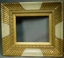 BOLD Modern Custom Carved Corner Picture Frame 8x10 Florentine Finish Baroque