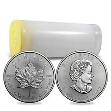 2017 1 oz Silver Canadian Maple Leaf Coins BU - 25 Coin Lot