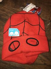 SPIDERMAN HAT TOBOGGAN SKI MASK RED BLACK BOY L XL (8 year and up) Marvel Studio