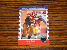 1990 Stars n Stripes - JUNIOR SEAU Rookie Card #84!! NRMT  Chargers/USC