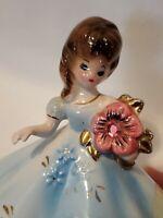 """VTG October Opal 4"""" Porcelain Figurine Josef Originals Japan Jewel ONE OWNER"""