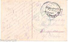 Bulgaria Occ. in Romania WWI 1917 Bucharest Bucuresti Bucarest w/h censor seal !